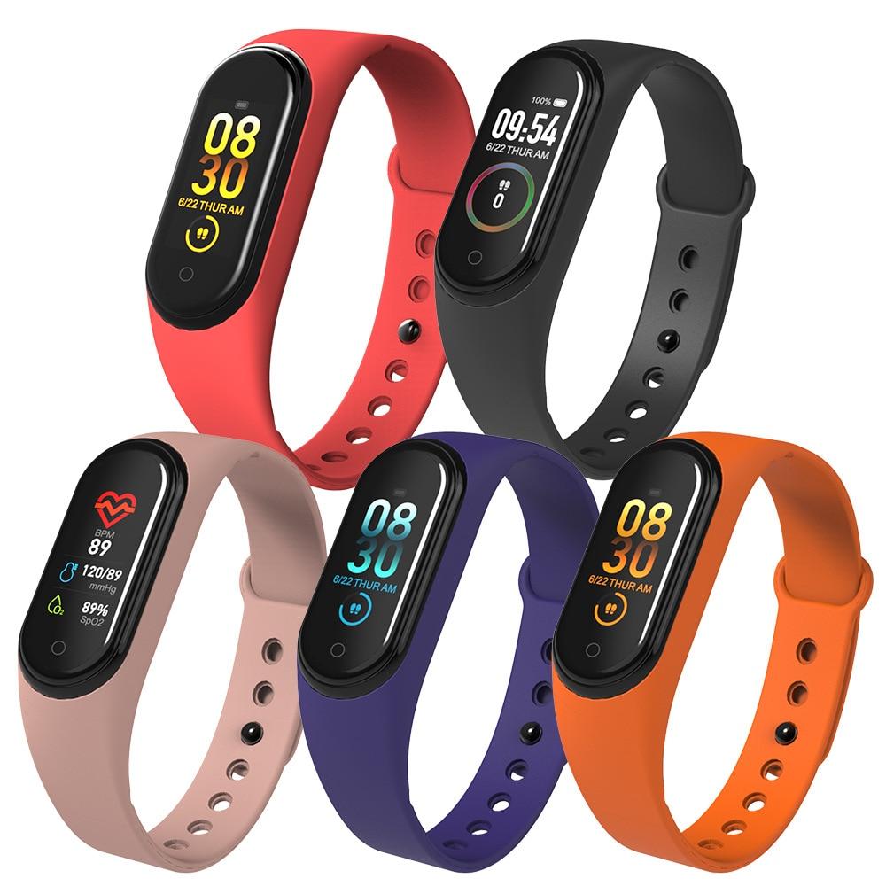 2020 M4 SmartWatch Heart Rate Blood Pressure Monitor Health Wristband Waterproof Bluetooth Sports Smart Band