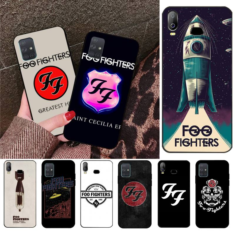 HPCHCJHM 214N FOO FIGHTERS Soft Silicone Black Phone Case For Samsung A10 A20 A30 A40 A50 A70 A71 A51 A6 A8 2018 image