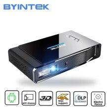 BYINTEK R15 Smart Android WIFI LED DLP láser portátil Mini Full HD 1080P 2K 3D 4K lámpara para proyector Beamer para 300 pulgadas de cine en casa