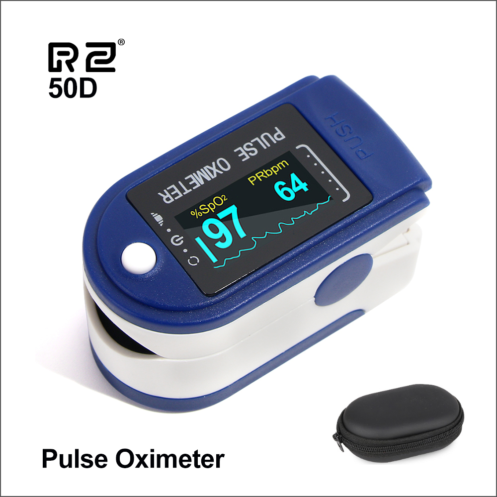 RZ Portable Finger Oximeter Fingertip PulseOximeter Medical Equipment With OLED Display Heart Rate Spo2 PR Pulse Oximeter