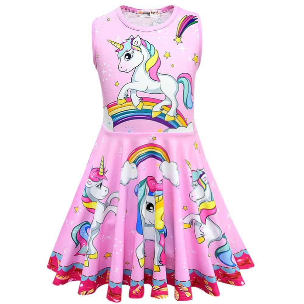Unicorn Dress Girl Summer Princess Baby Party Frocks For Kids Vestidos Infantil Roupas Infantis Menina Toddler Haloween Costume 1