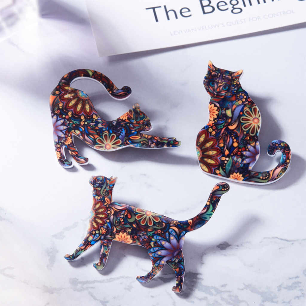 New Cute Personality Cat Animal Pattern Brooch Eagle Badges Pin Unisex Ethnic Jacket Coat Brooch Jewelry relogio masculin