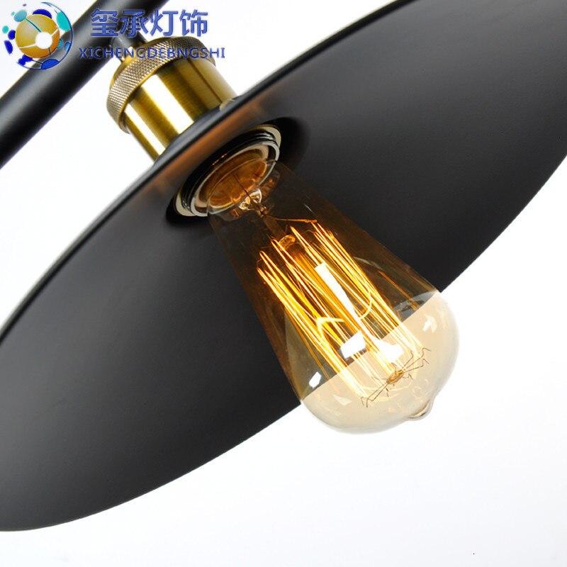 Vintage Ferro Loft Industriale in Stile Americano Puleggia Luce Del Pendente Filo Regolabile Lampada a Scomparsa Bar Luce Edison Della Lampadina - 4