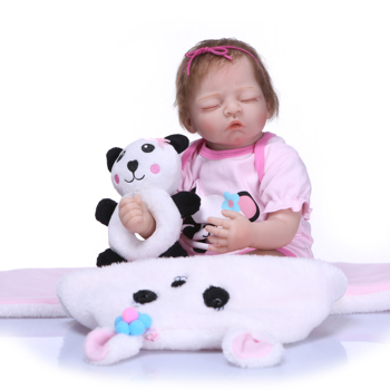 50cm Baby New Born Dolls Reborn Panda Blanket Function Super Lifelike Toddler Boneca For Birtnday Kid Gift