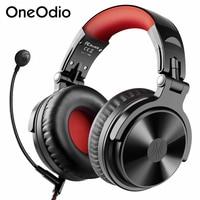 Oneodio Pro M inalámbrico Auriculares auriculares con micrófono CVC8.0 estéreo de juegos por cable auricular Gamer compatible con Bluetooth para PC de teléfono PS4