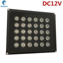 цена на DC12V CCTV Camera Light Lamp 30 IR infrared Array illuminator infrared IP65 850nm metal Waterproof Night Vision CCTV Fill Light