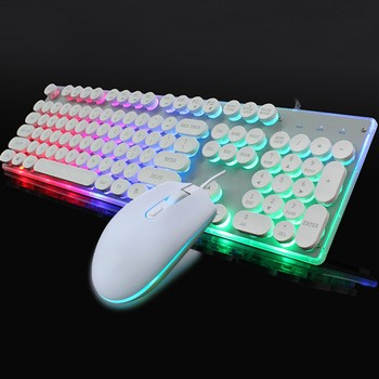 Keyboard Mouse Backlit Gaming Mouse And Keyboard Waterproof Luminous Mouse Keyboard Punk Keyboard And Mouse Combo For PC Gamer 2