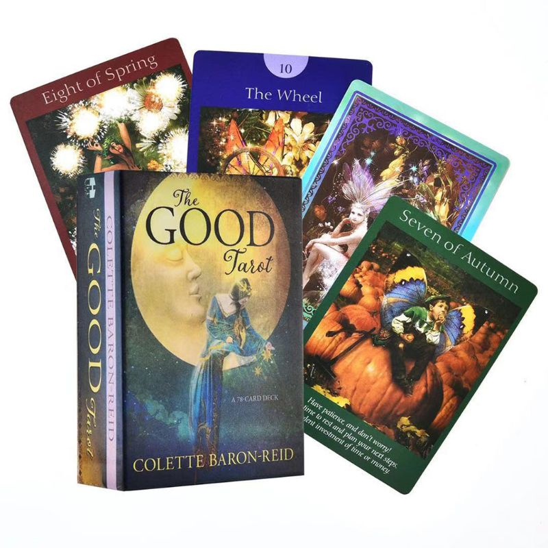 The Good Tarot 78 Card Deck Full English Tarot Guidance Fate Divination Prophecy Board Game Playing Card for Family Party 2