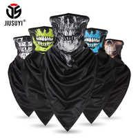 New Design Headband Skull Neck Gaiter Head Scarves Ear Cover Face Shield Scarf Breathable Bandana Half Face Masks Men Girls