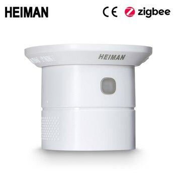 HEIMAN Zigbee CO Sensor  Carbon Monoxide Detector High Sensitiv Poisoning Warning Alarm work smart house big discount wireless zigbee smart carbon monoxide detector 85db fire alarm controlled by mobile app