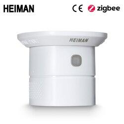 HEIMAN Zigbee CO Sensore di Monossido di Carbonio Detector Ad Alta Sensitiv Avvelenamento Avviso Allarme di lavoro casa intelligente