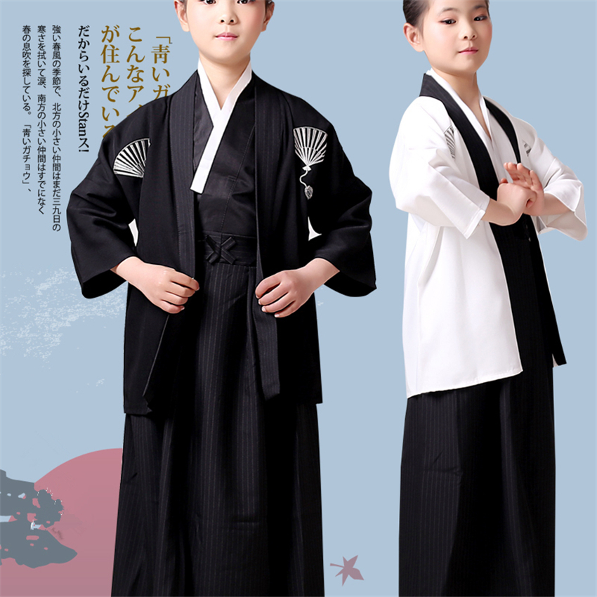 New Year Japanese Samurai For Kids Kimono Boys Haori Carnival Party Stage Performance Japanese Style Vintage Clothing