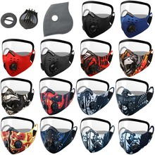 Cycling Mask With Eye Shield Face Visor Reusable Unisex Outdoor Multi-color Anti-Haze Dust Detachable Eyes Shield Protection