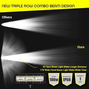 "Image 5 - Led Work Light Bar 180W 10"" Offroad 4X4 12V Driving Light Led Lights for trucks boat motorcycle tractor LED Combo SUV ATV Light"