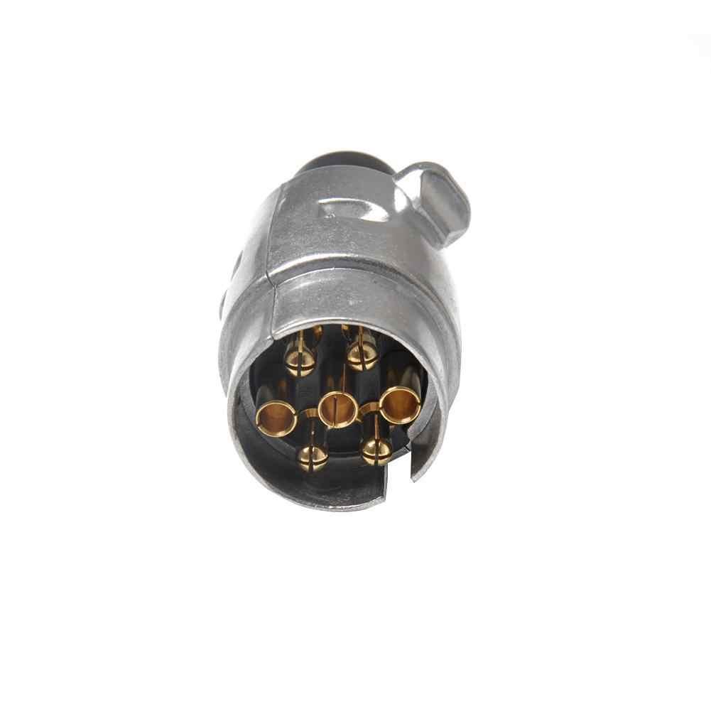 7-контактный соединитель прицепа 12 V 7-контактный Алюминий сплав Разъем и вилка европейского стандарта 12 вольт