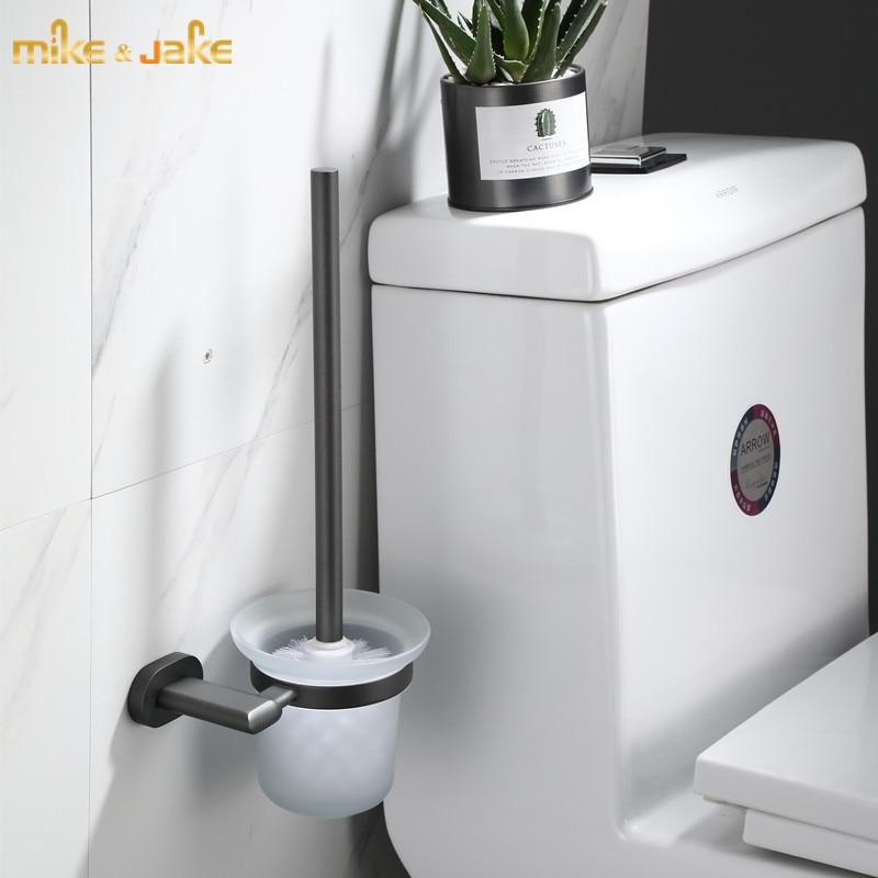 Gunmetal bathroom brush holder bathroom toilet brush closet bowl brush rack gunmetal bathroom accessory