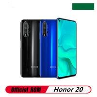 Honor-teléfono móvil Honor 20 4G LTE, 8GB RAM, 256GB ROM, Kirin 980, reconocimiento de huella dactilar, pantalla completa de 6,26 pulgadas, 48.0MP, 5 cámaras, Android 9,0, GPS
