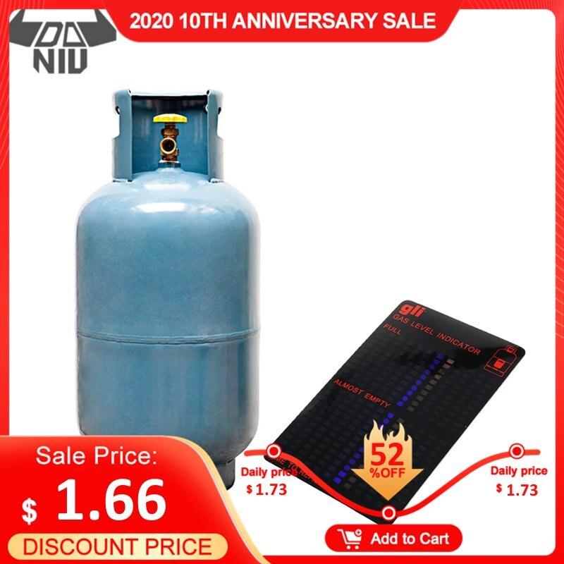 DANIU Magnetic Gas Cylinder Tool Gas Tank Level Indicator Propane Butane LPG Fuel Gauge Caravan Bottle Temperature Measuring