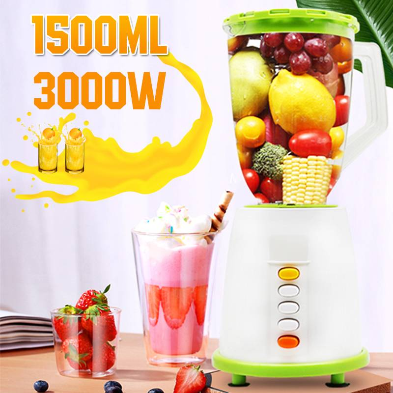 Becornce 1500ML Multi functional Nutrition Machine Juice blenders Fruit Juicer Mixer Timer Blenders Ice Crusher Food Processor|Blenders| |  - title=