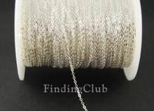 Fábrica 5m (16ft) 1.5mm prata cor bronze soldada plana cabo corrente para diy jóias fazendo c10