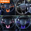 SHINEKA Interior Accessories For Dodge Challenger 2015+ Car Steering Wheel Decoration Cover Stickers For Dodge Charger 2015+ 3