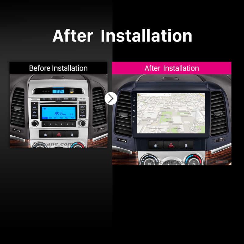 Seicane 2 din odtwarzacza DVD z systemem Android nawigacja GPS z Bluetooth Radio dla 2005 2006 2007 2008 2009 2010 2011 2012 HYUNDAI SANTA FE