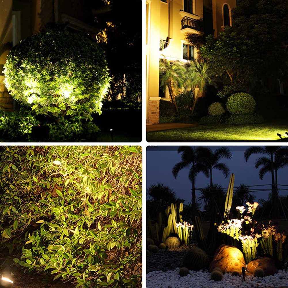 4pcs Garden Spotlight COB LED Outdoor Spike Lights Path Yard Landscape Lamp New