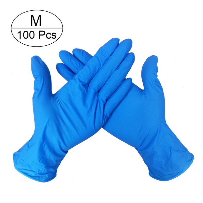 100 PCS Disposable Nitrile Gloves and Multi Purpose Latex Gloves for Virus and Flu Protection 15