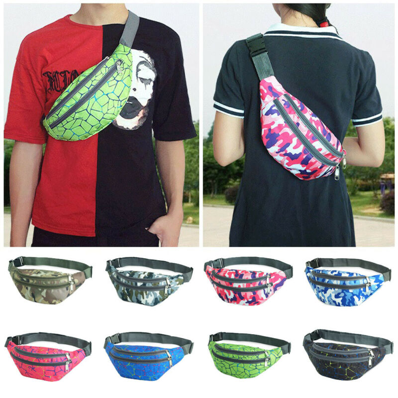 Unisex Camouflage Bum Bags For Women 2019 New Running Waist Purse Bag Waterproof Pouch Hip Fanny Pack Men Sports Waist Bag Lady