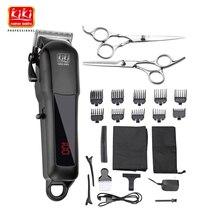 Kiki newgain recarregável profissional cortador de cabelo aparador de cabelo 2000 mah bateria de lítio 100 240v NG 888 NG 777 com display lcd