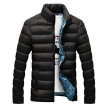 Męska kurtka zimowa 2019 modna stójka męska kurtka parki męskie jednokolorowe grube kurtki i płaszcze mężczyzna jesień parki J017 tanie tanio QNPQYX COTTON 100 poliester M-0 4KG 6XL-0 7KG Szczupła Na co dzień REGULAR Kieszenie Ruched Zamki Stojak NONE Stałe