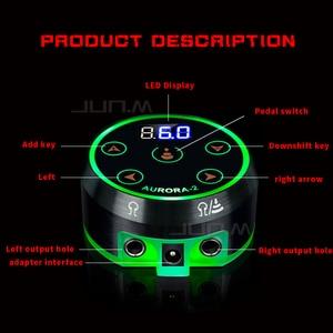 Профессиональный мини-источник питания AURORA lcd для тату с адаптером для катушек и роторных тату-пистолетов