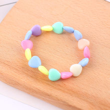 Summer Style Kids Children Cute Candy Colorful Cartoon Acrylic Heart Bracelet for Girl Birthday Party Jewelry Gift Wholesale(China)