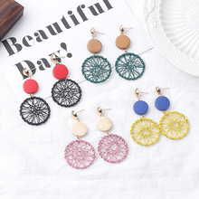 Simple Fashion Gold Color Geometric Big Round Earrings for Women Hollow Dreamcatcher Jewelry Dropshipping