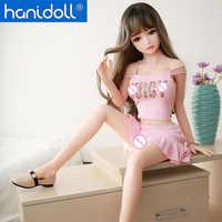Hanidoll silicona muñecas sexuales 115cm TPE muñeca sexual anime hombre amor muñeca realista Vagina Real adulto pecho pequeño juguetes sexuales para hombres