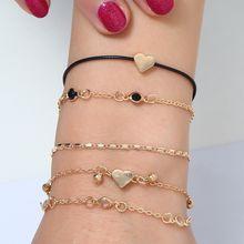 5 шт/компл новых модных цепь браслет женский на ногу многослойный