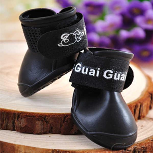 Pet Köpek Moda Şeker Renkleri su geçirmez botlar Koruyucu Kauçuk yağmur ayakkabıları Patik 5 Renk