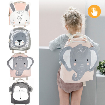 Cartoon Rabbit Plush Backpack Large Stuffed Animals Doll For Baby Kids Cute Schoolbag Butterfly lion print Bag - discount item  30% OFF School Bags