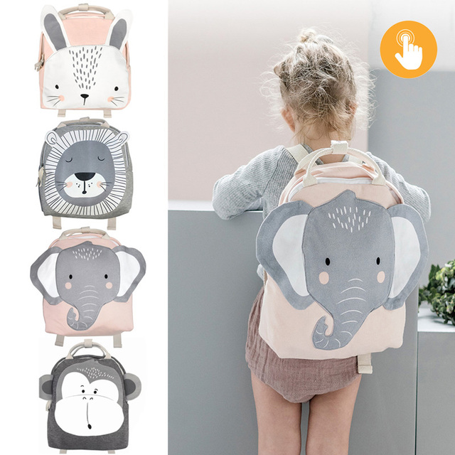 Cartoon Rabbit Plush Backpack Large Stuffed Animals Doll Backpack For Baby Kids Cute Schoolbag Rabbit Butterfly lion print Bag