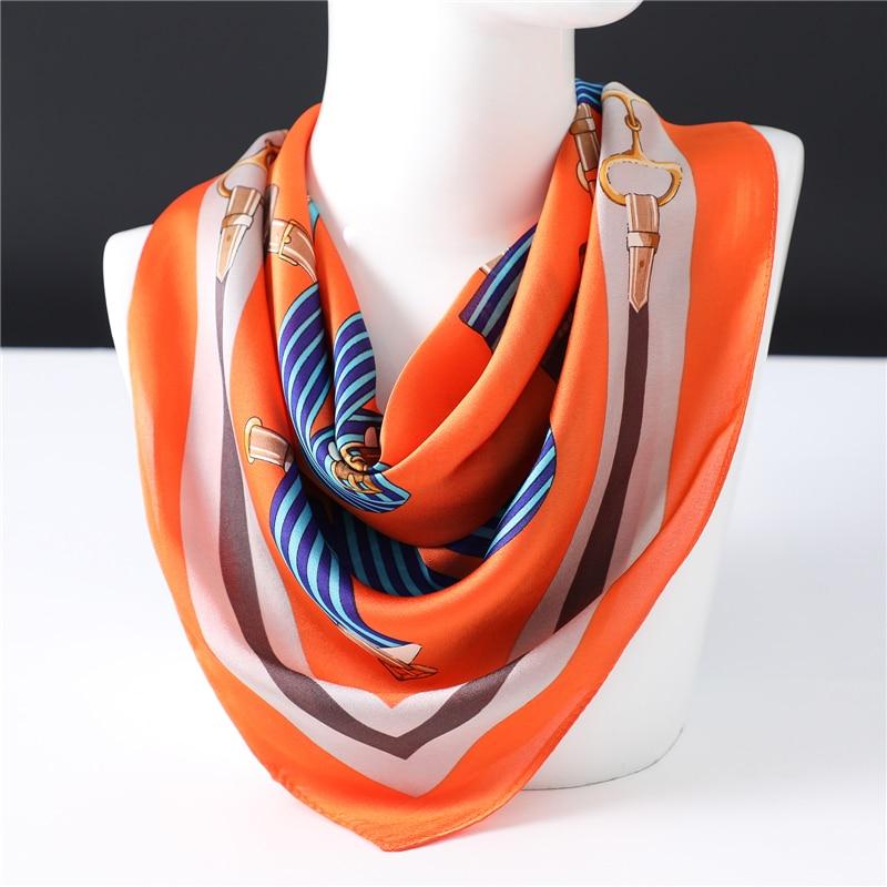 Brand Designer Silk Scarf For Women 2020 New Fashion Print Shawls High Quality Bandana Foulard Square Spring Summer Neck Scarves