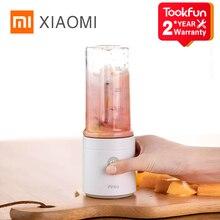 XIAOMI Pinloเครื่องปั่นไฟฟ้าคั้นน้ำผลไม้เครื่องผสมอาหารแบบพกพาโปรเซสเซอร์ชาร์จโดยใช้Quick Juicingตัดปิดถ้วยผลไม้
