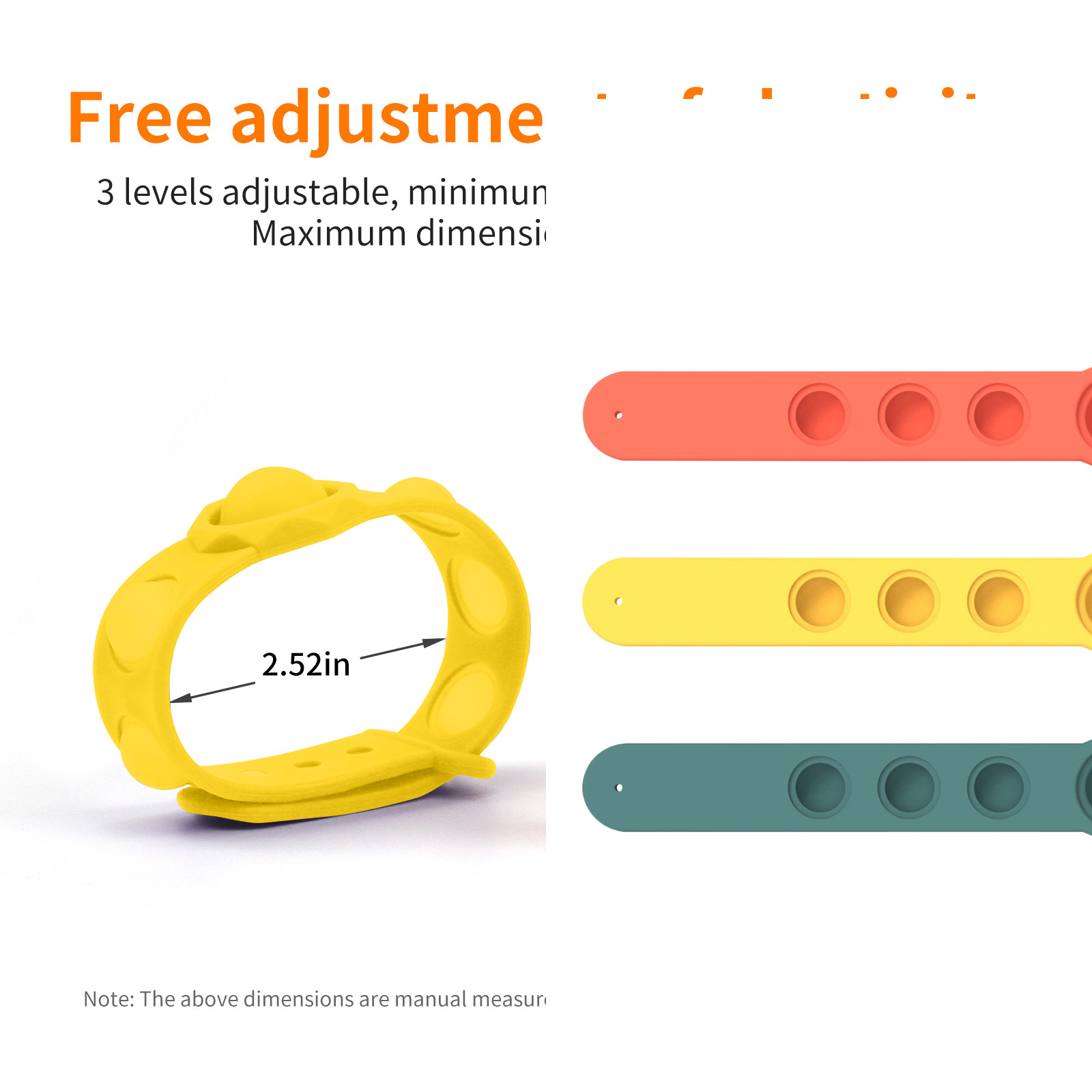 Decompression Bracelet Toys Press-Massage-Toy Fidget Hand-Figet Relief Pops-It-Stress img3
