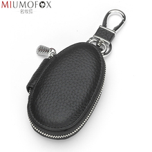Wallets Housekeeper-Organizer Genuine-Leather Purse Pouch Key-Case Keys Zipper Small