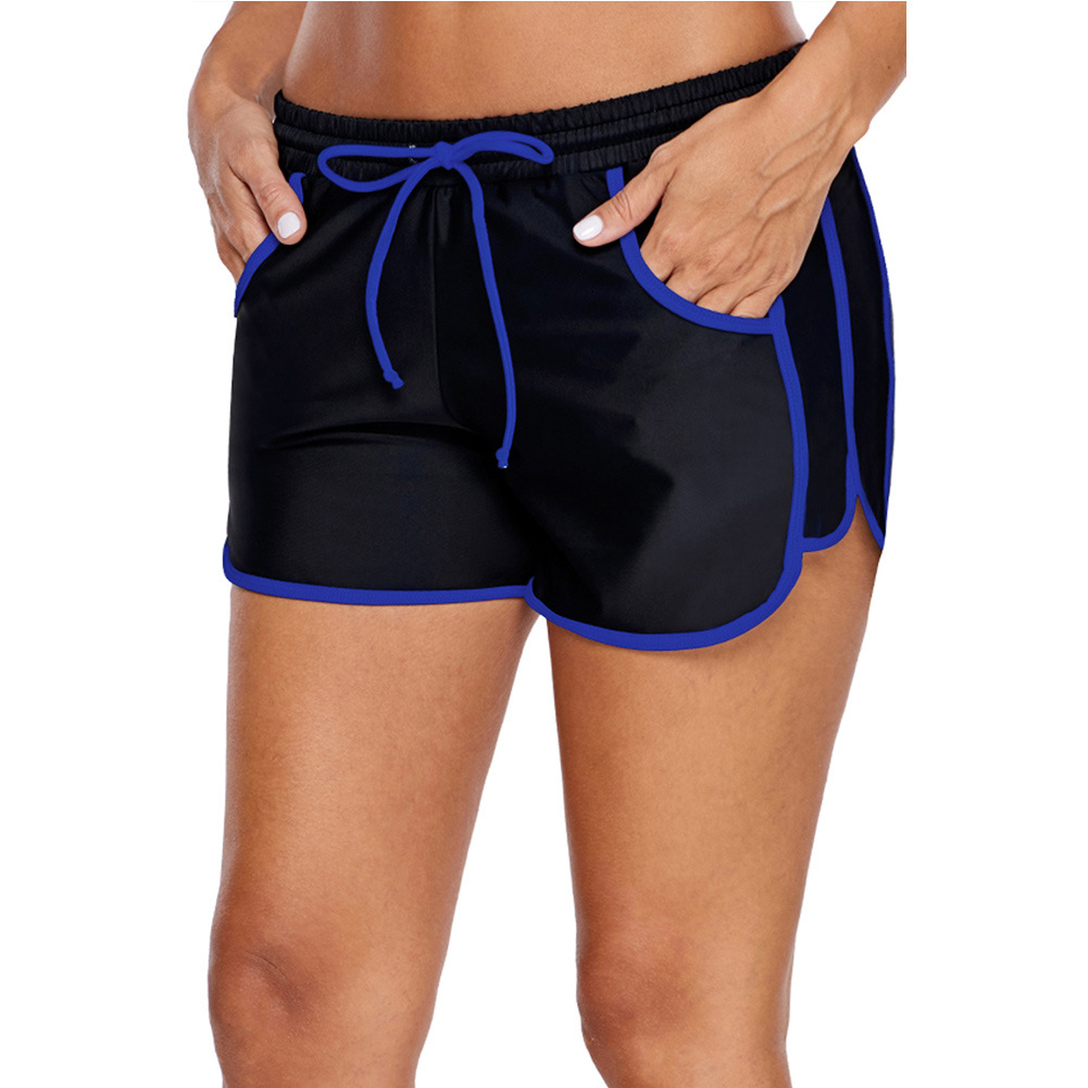 Europe And America Bikini Boxers Seaside Holiday Beach Swimming Trunks Black(singleton) Shorts Women's