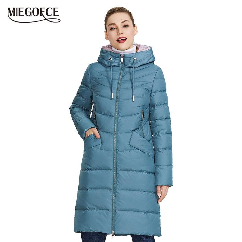 MIEGOFCE 2019 nouvelle veste femme hiver manteau Simple femmes Parkas chaud hiver femmes manteau de haute qualité biologique-bas Parkas