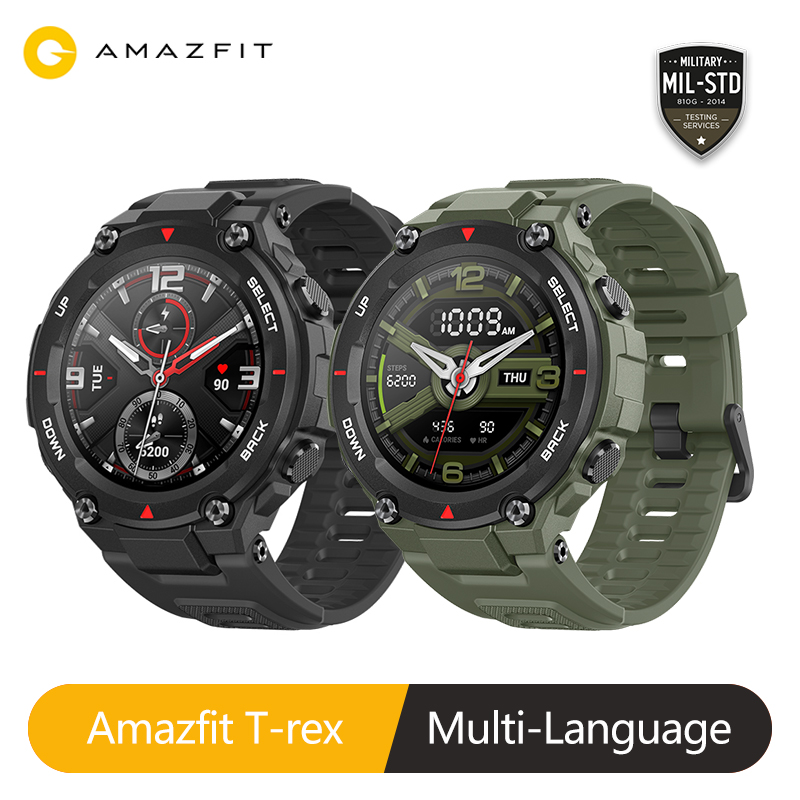 Novo 2020 ces amazfit t-rex t rex smartwatch 5atm 14 modos de esportes relógio inteligente