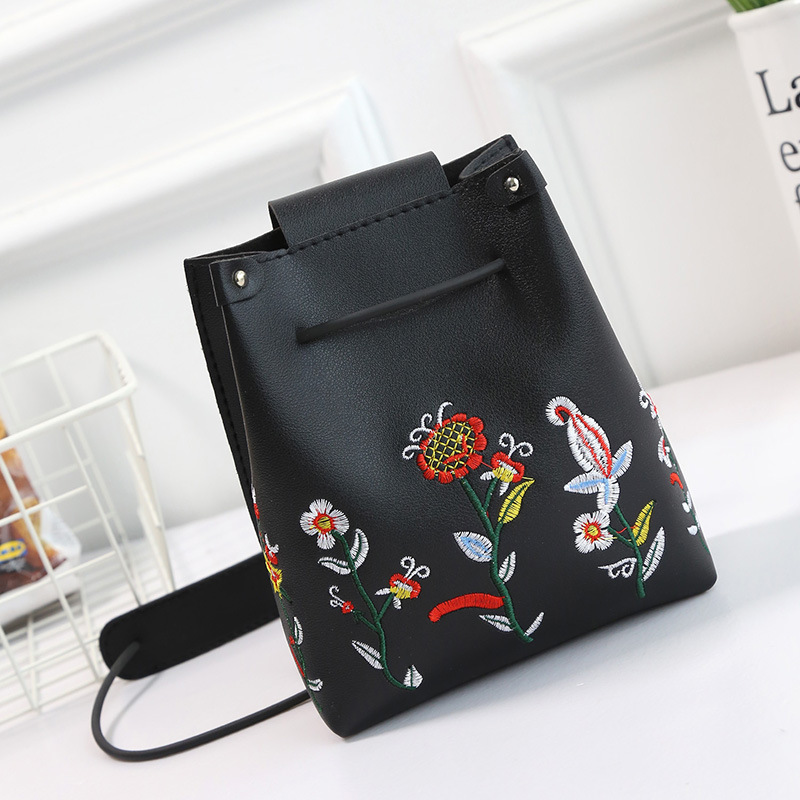 HOT SALE Fashion Women Small Bucket Bags Ladies Leather Hand Bags Totes Handbags Drawstring Messenger Shoulder Bag For Women