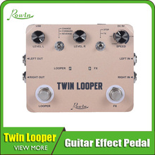Rowin Twin Looper Station Electric Guitar Effect Pedal for Guitarists tama hp600dtw iron cobra 600 twin pedal