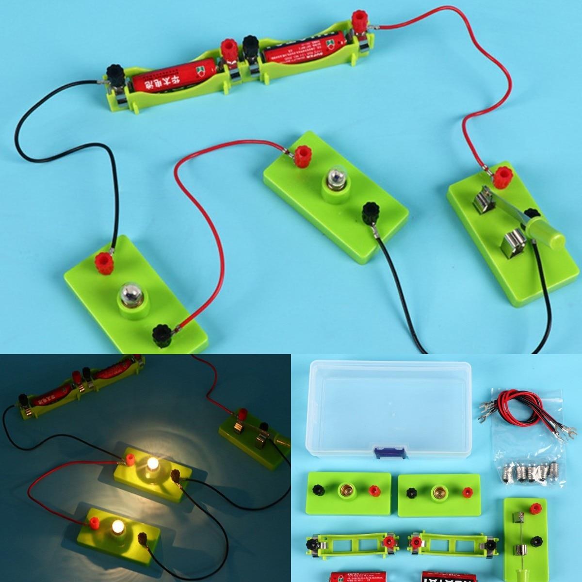 Детская научная игрушка, Базовая схема, электричество, Обучающие физические обучающие игрушки для детей, эксперимент со стержнем, реальные ...