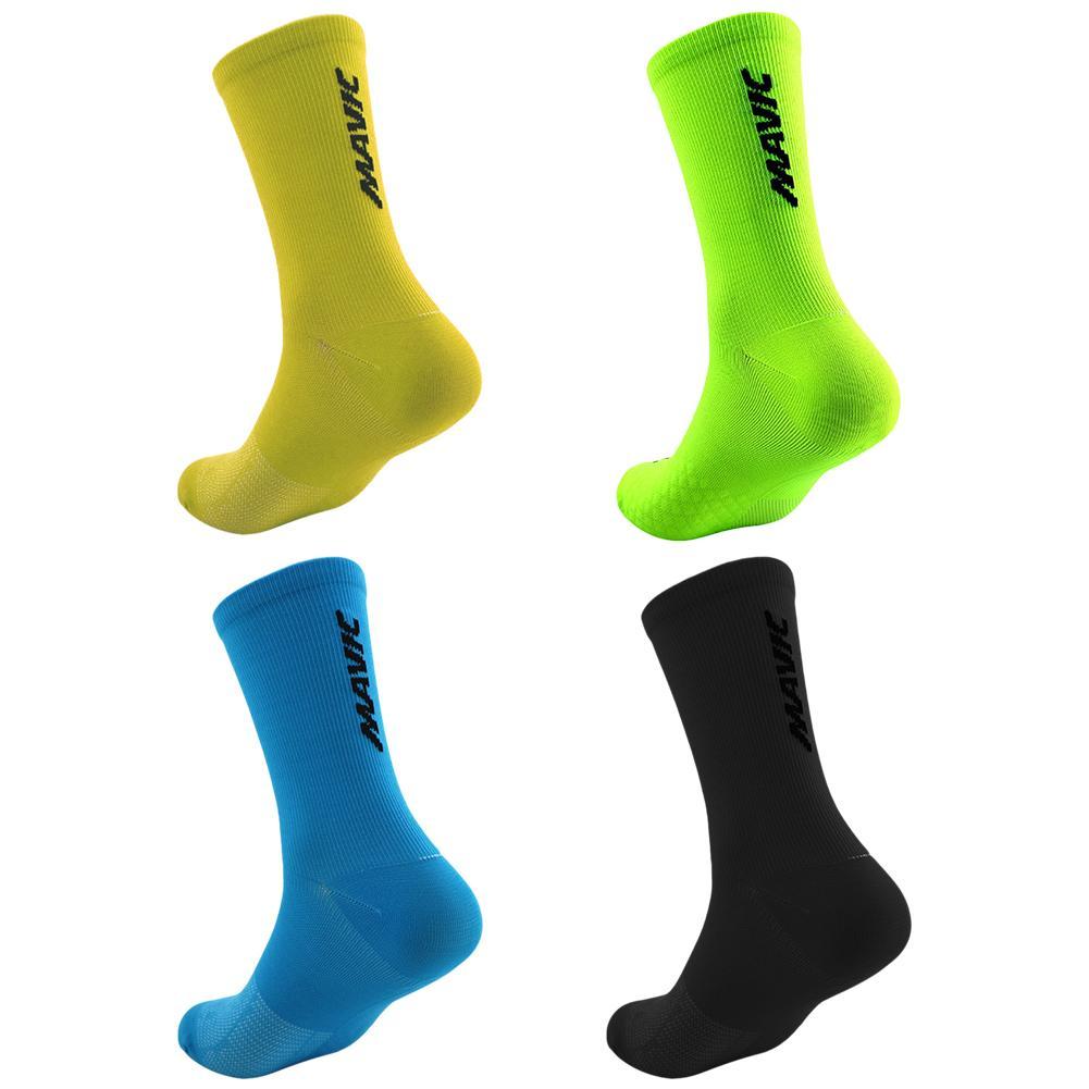 High Quality 2019 Sports Socks Breathable Road Bike Socks Outdoor Sports Cycling Racing Socks Multicolor Green/yellow/blue/black